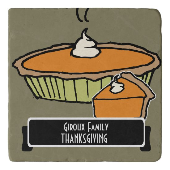 Personalized Thanksgiving Dinner Trivet w Pie