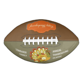 Personalized Thanksgiving Holiday Football