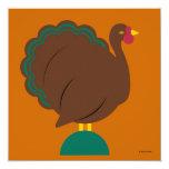"""Personalized Thanksgiving Invitation 5.25"""" Square Invitation Card"""