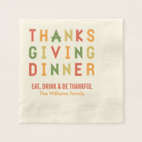 Personalized Thanksgiving Napkins | Fall Letters