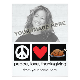 "Personalized Thanksgiving Photo Cards 4.25"" X 5.5"" Invitation Card"