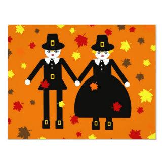 Personalized Thanksgiving Pilgrim Invitation