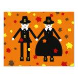 "Personalized Thanksgiving Pilgrim Invitation 4.25"" X 5.5"" Invitation Card"