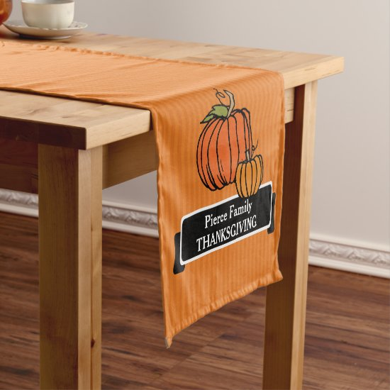Personalized Thanksgiving PumpkinTable Runner