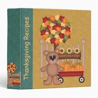 Personalized Thanksgiving Recipe Binder