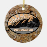 Personalized The Flatirons, Boulder CO Ornament