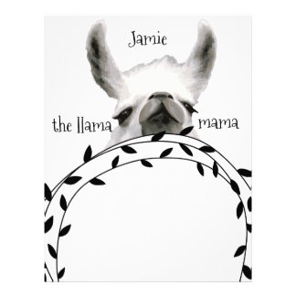 Personalized The Llama Mama Letterhead