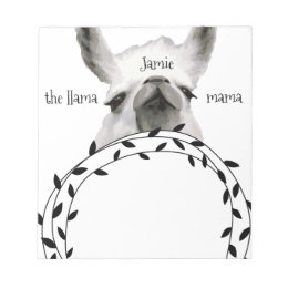 Personalized The Llama Mama Notepad