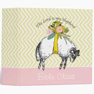 Personalized The LORD is my shepherd Psalm 23 3 Ring Binder