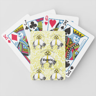 Personalized The LORD is my shepherd Psalm 23 Bicycle Playing Cards
