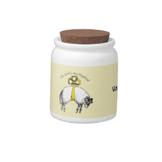 Personalized The LORD is my shepherd Psalm 23 Candy Jar