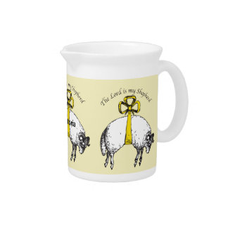 Personalized The LORD is my shepherd Psalm 23 Pitcher