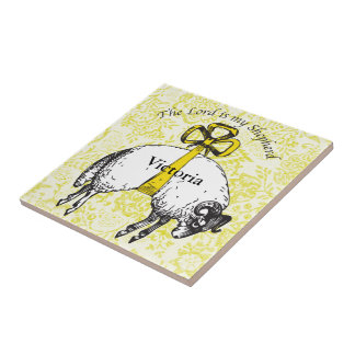 Personalized The LORD is my shepherd Psalm 23 Tile
