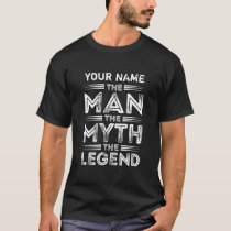 Personalized The Man The Myth The Legend T-Shirt