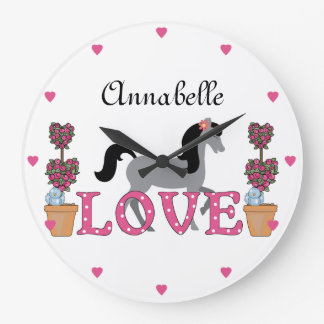 Personalized The Pretty Ponies Love Horse Clock