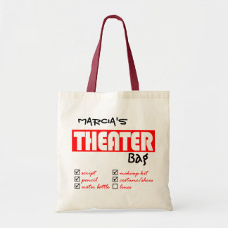 Personalized Theater Tote Budget Tote Bag