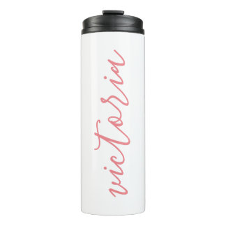 Personalized Thermal Tumbler   White