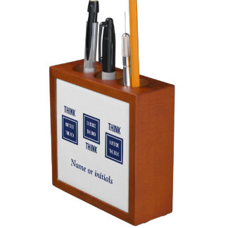 Personalized Think outside box two-sided Pencil/Pen Holder