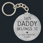 "Personalized This Daddy Belongs To Father's Day Keychain<br><div class=""desc"">Personalized This Daddy Belongs To Father's Day Keychain