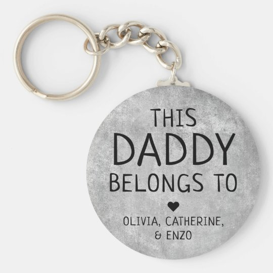 Personalized This Daddy Belongs To Father's Day Keychain