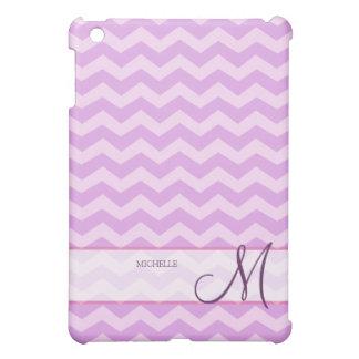 Personalized Thistle Pruple and Violet Chevron iPad Mini Case