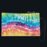 "Personalized Tie Dye Clutch Purse<br><div class=""desc"">A large purse or a tote is handy when you have a lot of stuff to carry, but you might prefer something smaller and sleeker for nights out on the town or for a quick trip to the store. A clutch purse is the perfect size to hold essential items such...</div>"