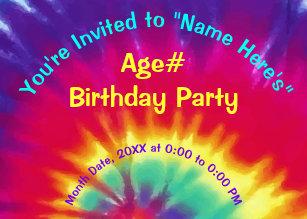 dye invitations zazzle