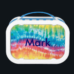 """Personalized Tie Dye Lunch Box<br><div class=""""desc"""">Both kids and adults love to be seen with this cool lunch box. Bringing your lunch to school or work is one of the easiest and most cost-effective habits for healthy eating. If you&#39;re someone who cares about the way things look and feel, you&#39;re probably more likely to stick to...</div>"""