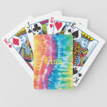 Personalized Tie Dye Playing Cards