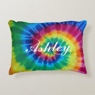 Personalized Tie Dyed Decorative Pillow