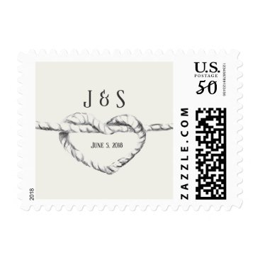 Beach Themed Personalized Tie the Knot stamp