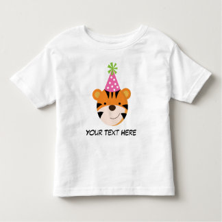 Personalized Tiger Birthday T Shirt For Girls