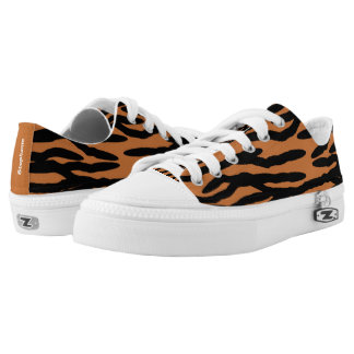 Personalized Tiger Print Printed Shoes