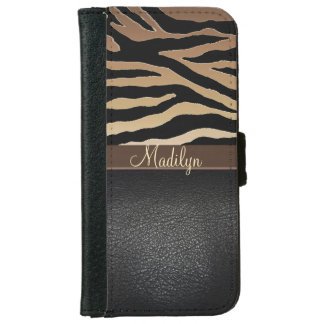Personalized Tiger Print Wallet Phone Case iPhone 6 Wallet Case
