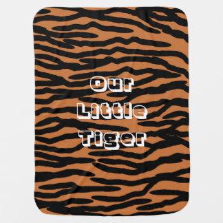 Personalized Tiger Skin Design Stroller Blanket