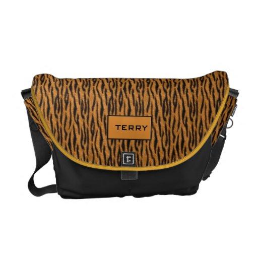 Personalized Tiger stripe theme Messenger Bag
