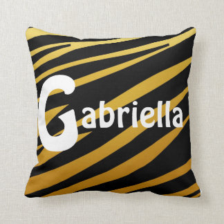 Personalized Tiger Striped Pillow