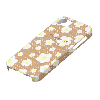 Personalized Tiny Cute Flowers C iPhone SE/5/5s Case