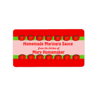 Personalized Tomato Sauce Labels