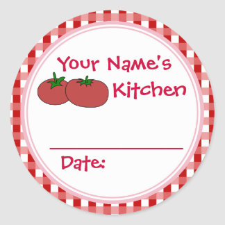 Personalized Tomatoes Berries Canning Jar Stickers