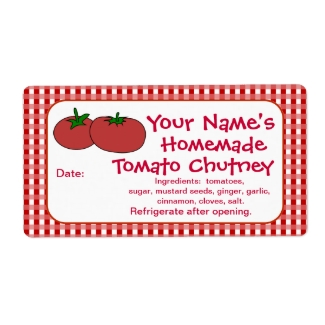 Personalized Tomatoes Sauce Jam Canning Jar Labels