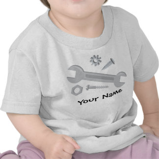 Personalized Tools Wrench Baby Tee Shirt