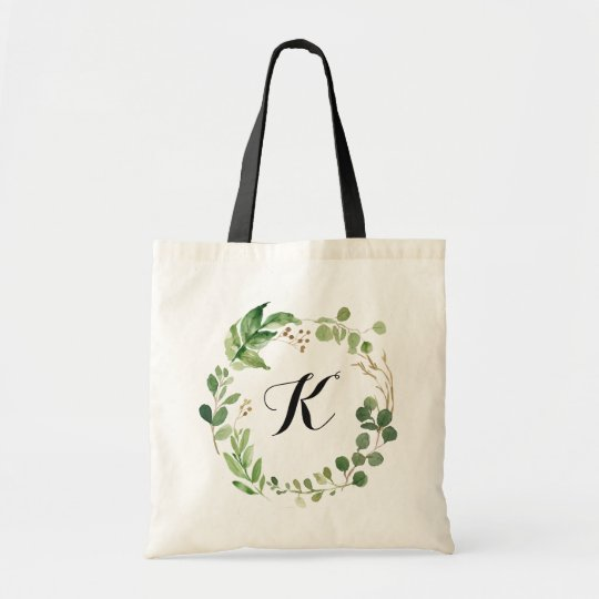 Personalized Tote Bag Green