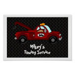 Personalized Towtruck Poster