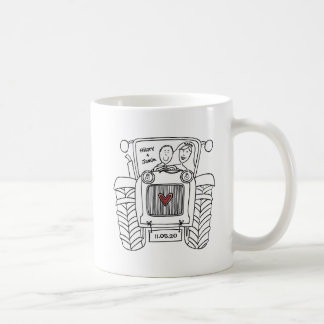 Personalized Tractor Country Wedding Ceramic Mug
