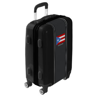 Personalized: Traditional: Puerto Rico Flag Luggage