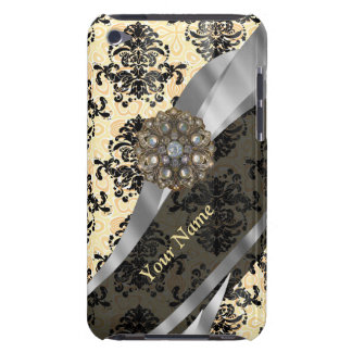 Personalized traditional vintage damask barely there iPod cover
