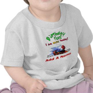 Personalized Train 1st Birthday T-shirt