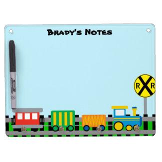 Personalized Train Dry Erase Board