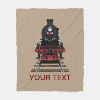 Personalized Train Engine Any Color Fleece Blanket